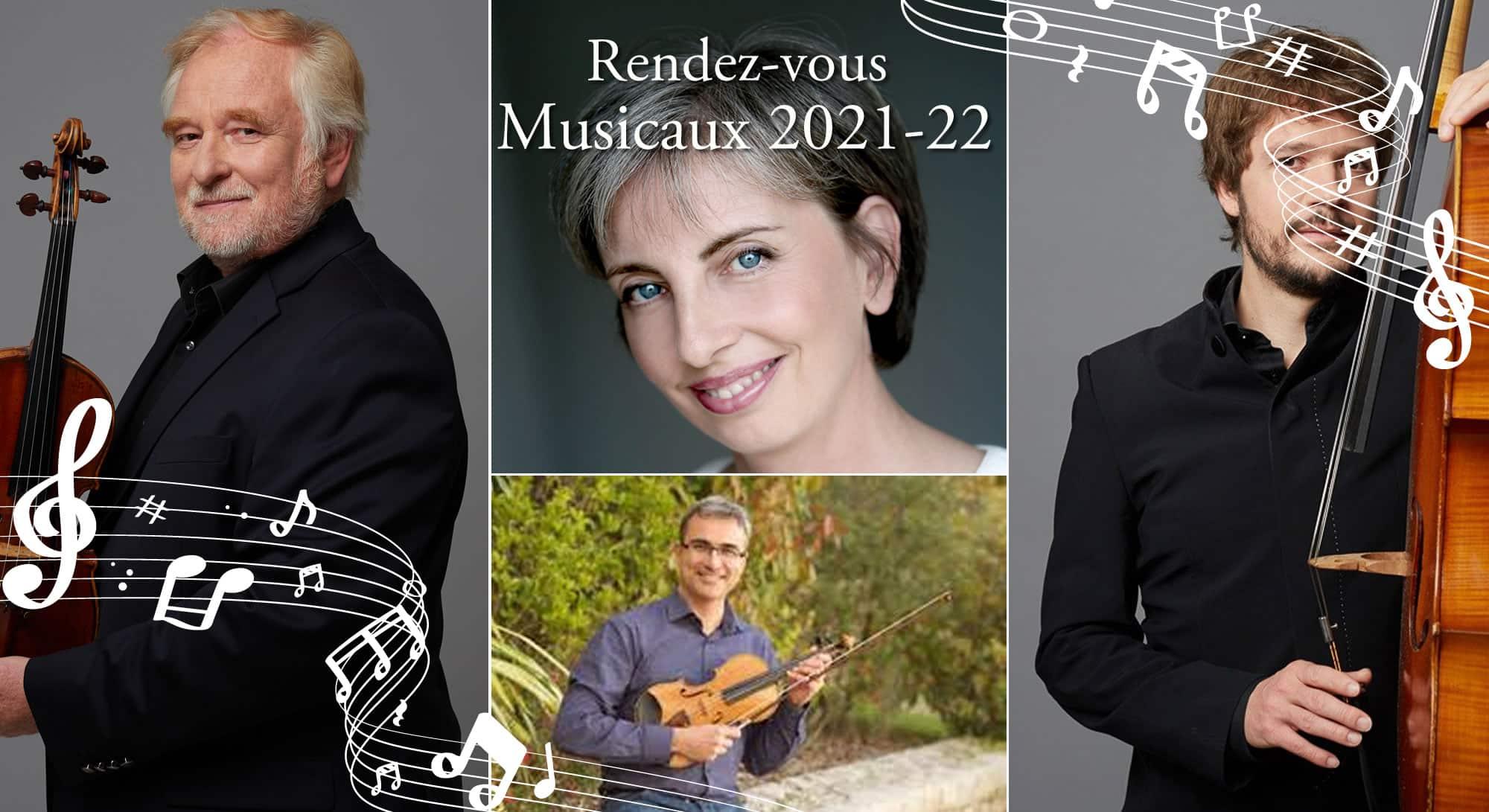 Gilles Henry, Julien Fourrier, Frédéric Peyrat, Sylvie Lechevalier en concert au Château d'Artigny