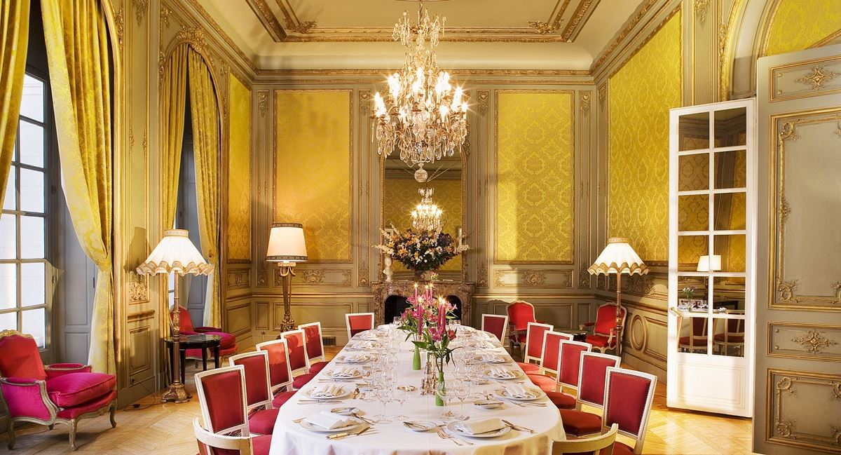 salle réception Chateau d'Artigny