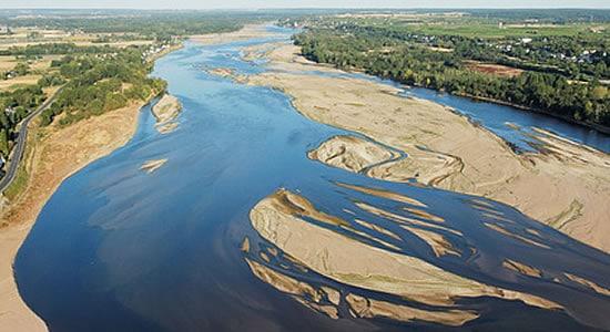 Loire vue du ciel