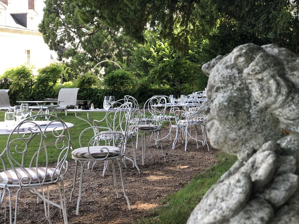 Déjeuner ou dîner en terrasse au Choiseul Amboise