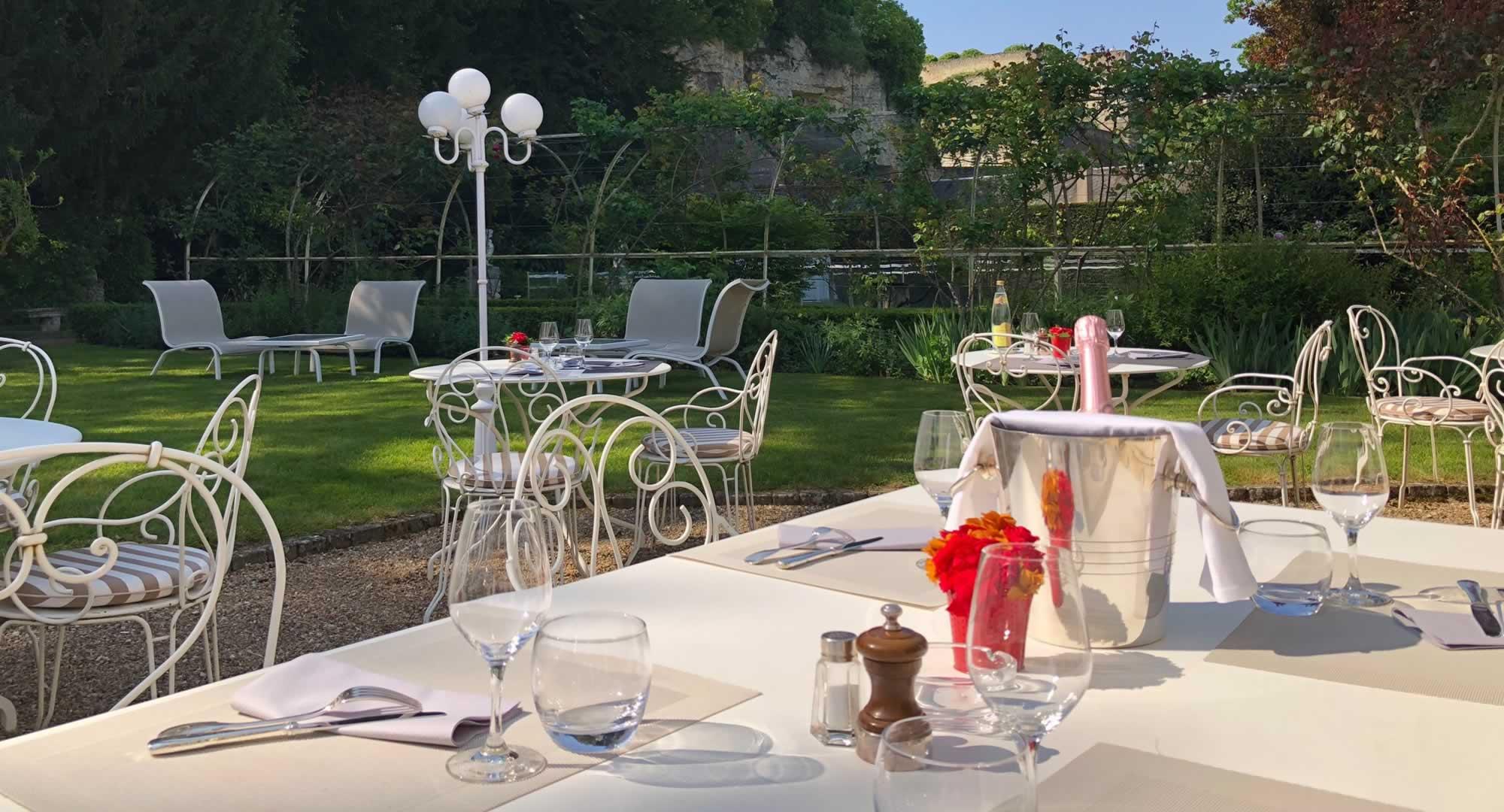 Terrasse et jardin au restaurant le 36 Amboise