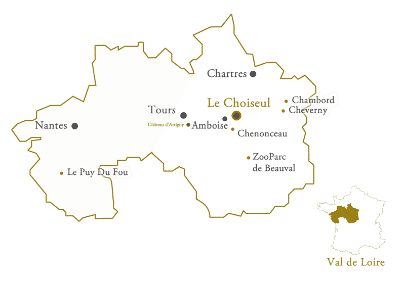 Amboise France Map.Hotel Le Choiseul Amboise Cultural And Leisure Activities