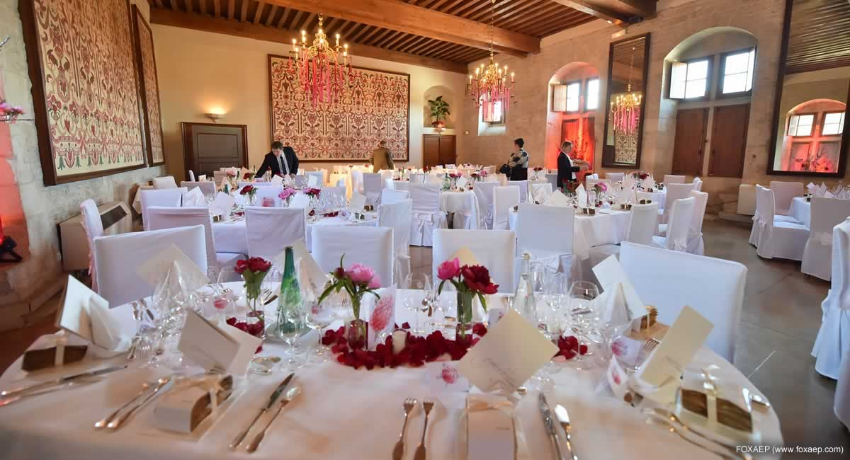 salle mariage Chateau de Gilly