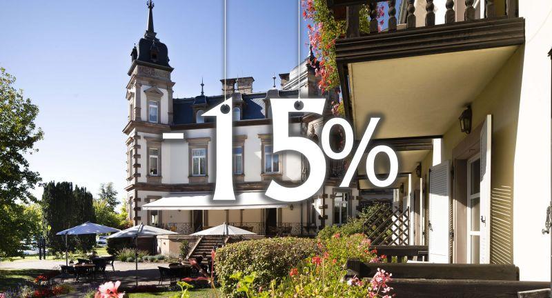 -15% sur les chambres au château de l'Ile